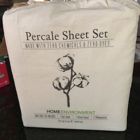 Home Environment Other - Organic Percale  sheets King set Home Environment
